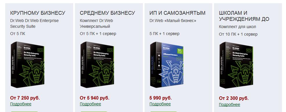 Продажа антивирусного программного обеспечения от ведущих разработчиков